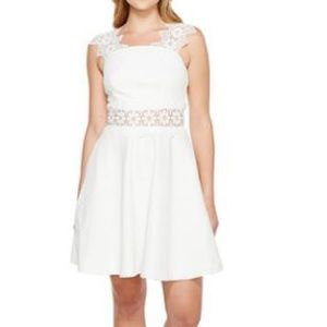 Ted Baker Monaa lace dress-white-NWT size 12